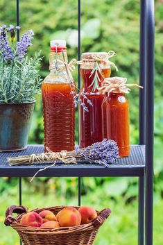 MERUŇKOVÝ SIRUP S LEVANDULÍ - Inspirace od decoDoma Hot Sauce Bottles, Food, Syrup, Essen, Meals, Yemek, Eten
