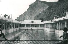 Piscinas Balneario 1959.Foto Benítez.