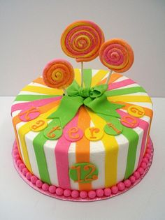 Lollipop Cake by Brenda's Cakes - Ohio, via Flickr