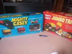 www.M37Auction.com: 2 boxes of Mighty Casey train sets
