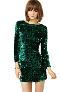 Cheap vestidos de fiesta, Buy Quality mini dress directly from China sequin dress Suppliers: Sequin Dress Women 2018 paillettes Bodycon Dress Party Sequined Dresses Long Sleeve T shirt Mini Dress Green Vestidos de fiesta Moda Outfits, Dress Outfits, Bar Outfits, Vegas Outfits, Club Outfits, Estilo Fashion, Ideias Fashion, Fashion Fashion, Fashion Shoes