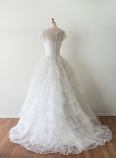 Late 1940s Wedding Gown by Strawberry Koi on Etsy