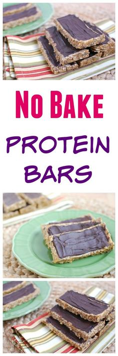 A homemade batch of no-bake protein bars that taste just like your favorite store-bought peanut butter protein bar, without all the crazy ingredients