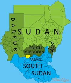 Sudan and south sudan map with capitals khartoum and juba north awesome south sudan subway map gumiabroncs Image collections
