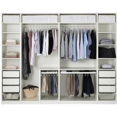 Discover the IKEA PAX wardrobe series. Design your own PAX wardrobe inside and out, from door styles, to shelves, to interior organizers and more. Pax Corner Wardrobe, Ikea Pax Wardrobe, Walk In Wardrobe, Bedroom Wardrobe, Walk In Closet, White Wardrobe, Ikea Wardrobe Storage, Ikea Pax Closet, Closet Redo