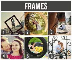 101 Tips and Ideas for Couples Photography- love the fun framing in these pics.