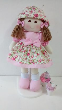 bonecas floral | Atelie mania em fazer arte | Elo7