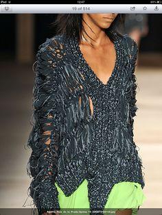 lovin this destroyed knitwear