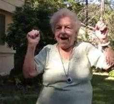 DANCING GRANDMA - My grandma started dancing when she heard the music (before she even saw the video) and was doing the exact some moves at this lady.