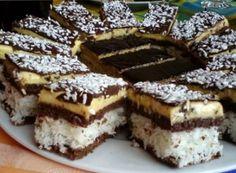 felii excelente de nucă de cocos cu ciocolata