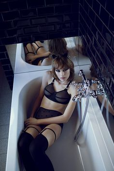 Arsenic & Vieilles Dentelles AW2013 - Debut Collection 'Eat Your Little Pea'. I want this bra.