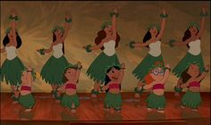 In order to capture the traditional Hawaiian dance form - the hula - correctly Disney took a camera crew to a renowned halau, a hula school. All of the introductory hula dance is modeled (though not. Lelo And Stich, Lilo And Stitch 2002, Lilo Y Stitch, Disney World Parks, Disney World Resorts, Disney Pixar, Walt Disney, Disney College, Hula Girl