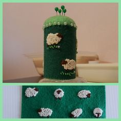 Sheep pin cushion.