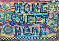 Home Sweet Home Mosaic Housewarming Art via Etsy