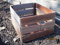 Salvaged Wood Rustic Crate Primitive by #MyAlteredState on Etsy