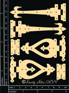 Dusty Attic - Hinges - Chipboard – TupeloDesignsLLC