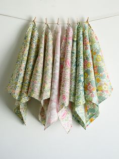 Love these handmade hankies! Molly's Sketchbook: Mother's Day Liberty Handkerchief Set - Knitting Crochet Sewing Crafts Patterns and Ideas! - the purl bee