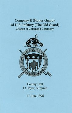 1996-06-17-CoC-Honor Guard Company-Poch-Book 01-01 | by Old Guard Museum