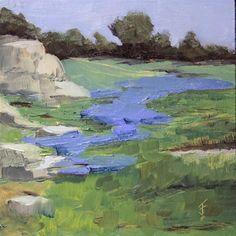 """""""Hillside Color"""" - Original Fine Art for Sale - © Jane Frederick"""