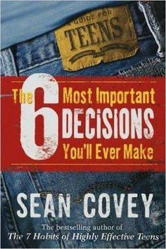 """Sean coveys wildly popular """"the 7 habits of highly effective teens"""" was one of the first teen success guides ever, and has become a timeless classic read by millions of teens all over the world. Now, in """"the 6 most important decisions youll ever make"""", covey goes into even greater depth in helping teens figure out how to approach the six major challenges they face: gaining self-esteem; dealing with their parents; making friends; being wise about sex; coping with substances; and succeeding at…"""