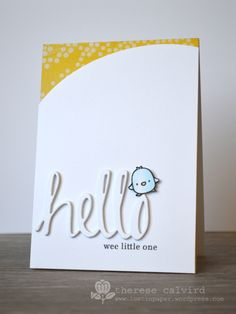 Lostinpaper - Hello Baby card - Mama Elephant Just Hatched /  Avery Elle Die - Simply Said Hello (video)