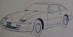 1988 300zx hand drawn