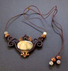 Makramee Halskette Labradorit Makramee Kette von Mediterrasian
