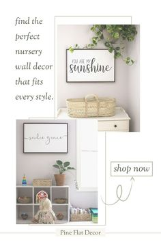 If you're looking for the perfect wall decor for your nursery or kids playroom, the Nursery and Playroom Wall Decor Collection from Pine Flat Decor is the perfect place to start. With our high-quality wood signs, framed canvases, prints and personalized name signs, you'll have the nursery and playroom design of your dreams. The nursery and playroom wall decor pair well with any style, from modern farmhouse, boho, modern minimalist and everything in between! Shop the Collection today! Playroom Wall Decor, Playroom Design, Nursery Room Decor, Bedroom Decor, Nursery Wood Sign, Home Decor Inspiration, Decor Ideas, Modern Farmhouse Decor, Diy Home Decor Projects