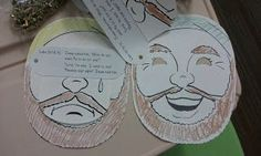 Sunday School Craft - Jesus Heals the Blind Man Mask....Bible Story, makes see, receives sight, healed, heal, make your own, interactive, see, eyes, vision