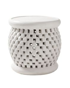basketweave pattern side table, serena and lily