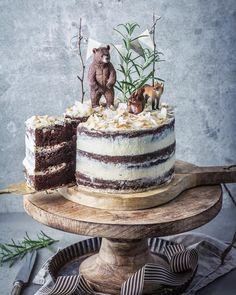 Nake Cake, Woodland Cake, Impressive Desserts, Pear Cake, Savoury Cake, Cake Smash, Let Them Eat Cake, Cake Designs, Bakken