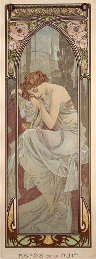 Mucha - The Times of the Day: Night's Rest (1899)