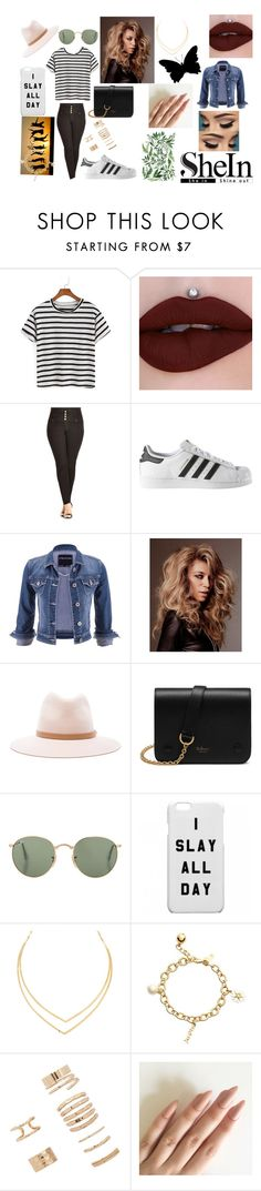 """Striped With Shein"" by alexis-kitten on Polyvore featuring City Chic, adidas, maurices, rag & bone, Mulberry, Lana, Kate Spade and Forever 21"