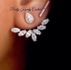 Karina Marquise Diamond Ear Jacket, Body Kandy Couture