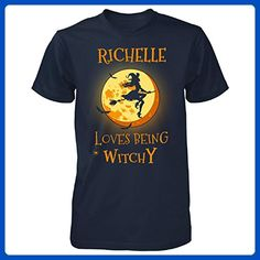 Richelle Loves Being Witchy. Halloween Gift - Unisex Tshirt Navy 3XL - Holiday and seasonal shirts (*Amazon Partner-Link)