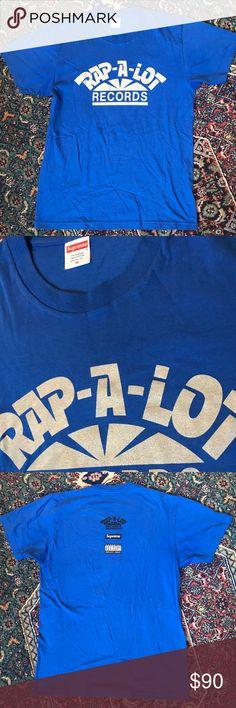 Supreme Rap A Lot Supreme Rap A Lot Records T-shirt Geto Boys. Blue Sz Medium. Worn Once. Supreme Shirts Tees - Short Sleeve