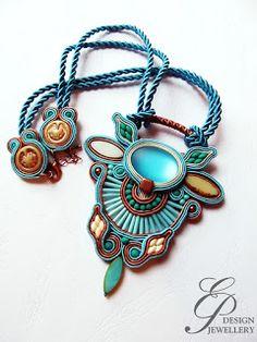 Soutache Pendant, Soutache Jewelry, Pendant Necklace, Shibori, Ribbon, Pendants, Brooch, Necklaces, Jewellery