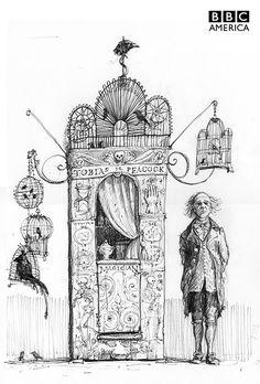 Jim Kay concept art for Jonathan Strange and Mr. Norrell