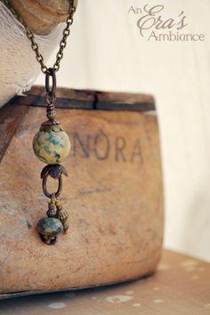 "The ""Yarrow Terra Jasper"" is an Earthy design with yarrow hues"