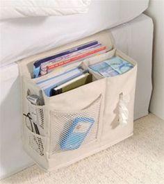 """Bedside Storage Caddy -    Dimensions: 12.5"""" W x 5"""" D x 10"""" H dorm ideas DIY dorm ideas #diy"""