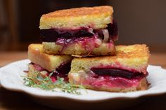 Roasted Beet Grilled Cheese Sandwich!!  This is a masterpiece :)