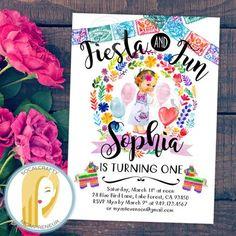 Fiesta Birthday Party Invitation Fiesta Invitation First