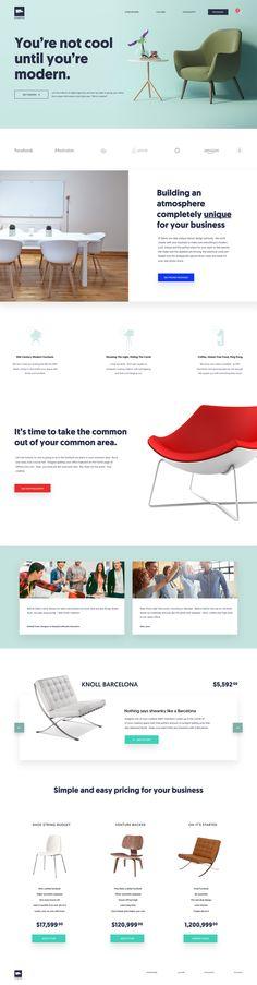 Agency Furniture Website Parody by Eric Hoffman | dribbble