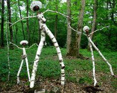 Des photos – Page 2 – Krapo arboricole Outdoor Sculpture, Outdoor Art, Sculpture Art, Landscape Art, Landscape Design, Forest Art, Garden Structures, Environmental Art, Nature Crafts