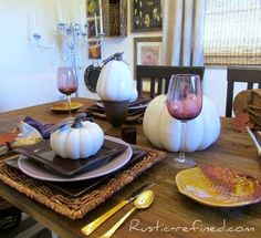 Purple Rust and Antler Tablescape for Fall
