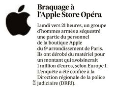 Braquage à l'Apple Store d'Opéra