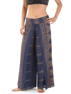 b92f93b51ba4 Pantalon large coton motifs paons - Forgotten Tribes Harem Trousers