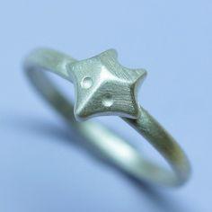 Minimal Fox Ring in Sterling Silver. $60.00, via Etsy.