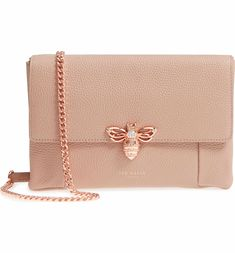 4735a5e19032 Main Image - Ted Baker London Zzlee Bee Embellished Crossbody Bag Ted Baker  Totes
