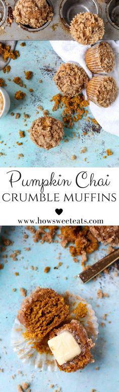 Pumpkin Chai Crumble Muffins
